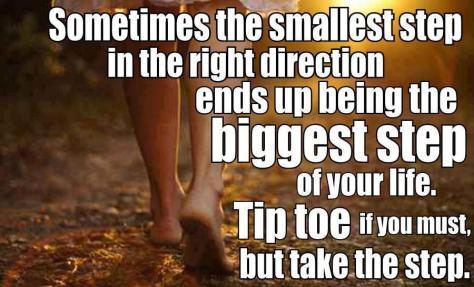 Taking small steps