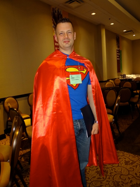 Superhero Tyner Gillies - winner of the Non-Fiction Category in the SiWC writing contest.