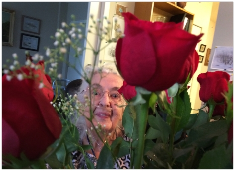 20140508 - Mom behind Birthday Roses