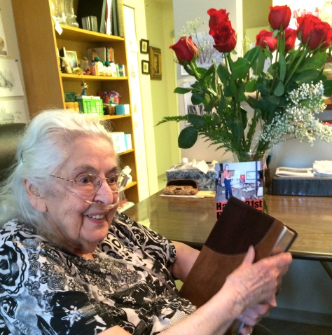 (Norma on her 91st birthday last May)