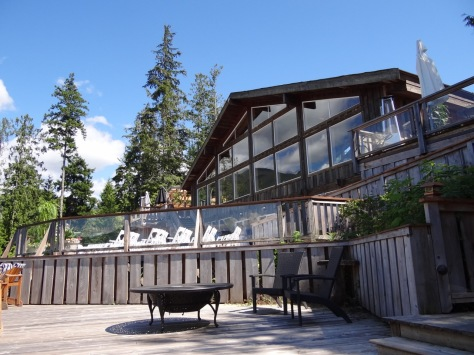 ...at the West Coast Wilderness Lodge on BC's Sunshine Coast.